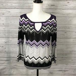 White House Black Market Sweaters - White House Black Market Keyhole Sweater